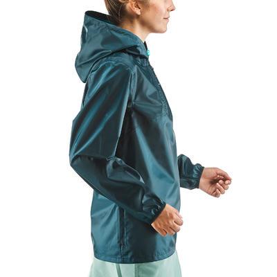 Coupe-pluie de randonnée nature - NH100 Raincut Demi Zip - Femme