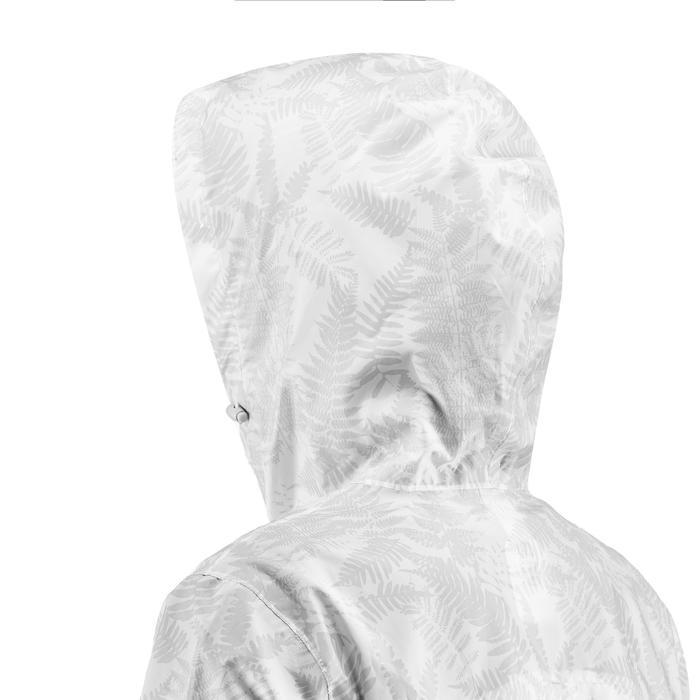 Regenjacke Naturwandern NH100 Raincut mit Reißverschluss Damen weiß
