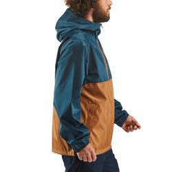 Coupe pluie Imperméable randonnée nature homme NH100 Raincut zip marron homme