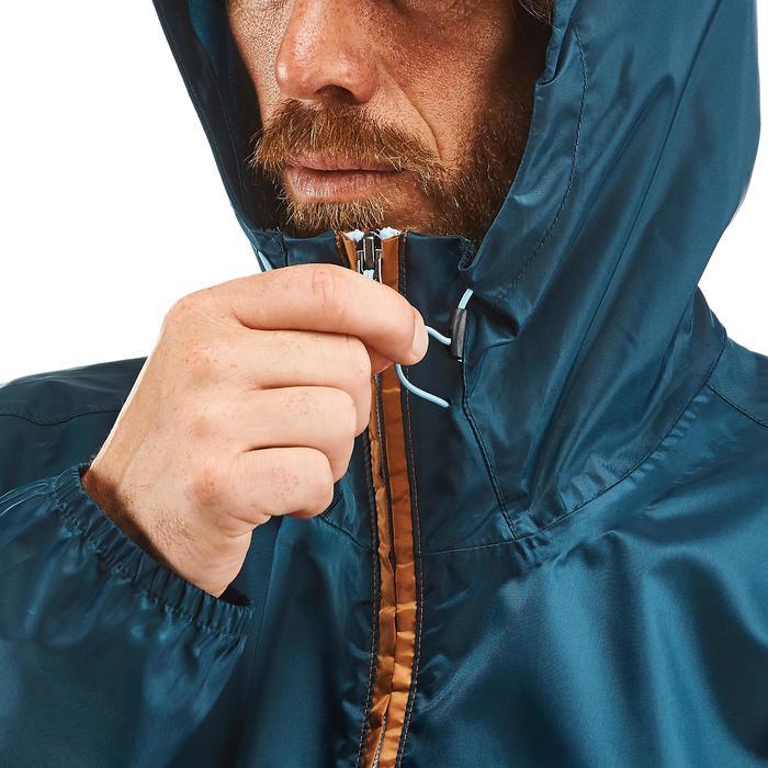 Regenjacke Naturwandern NH100 Raincut Zip Herren braun