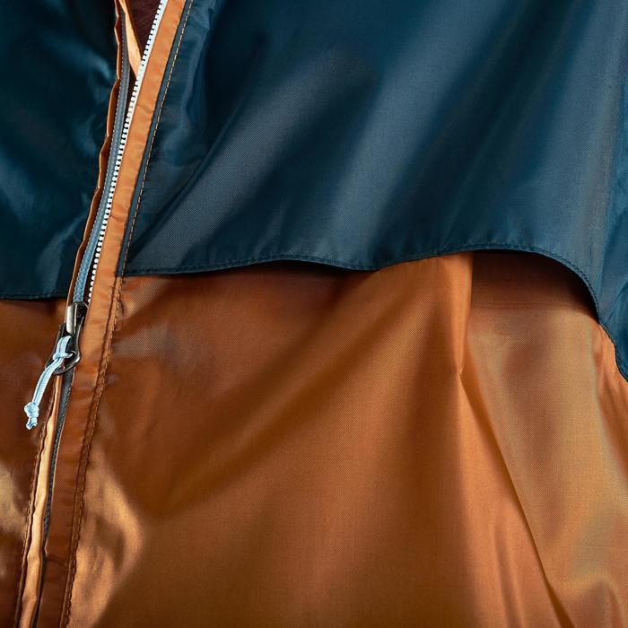 Regenjas voor wandelen heren NH100 Raincut volledige rits