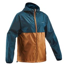 Regenjas voor hiking in de natuur Heren NH100 Raincut Full Zip