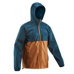 Men's country walking rain jacket NH100 Raincut Full Zip
