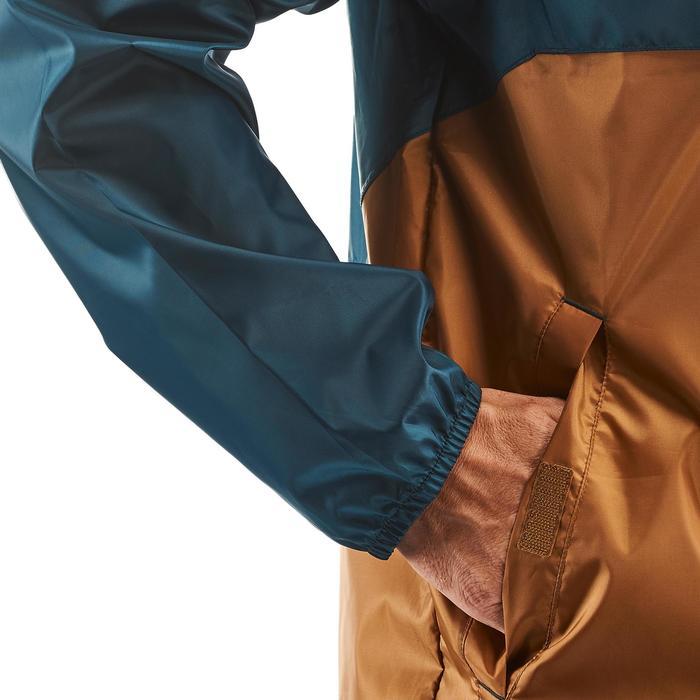 男款防水鄉村健行防雨外套NH100 Raincut-棕色