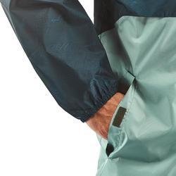 Regenjas voor wandelen en hiken NH100 Raincut rits groen heren
