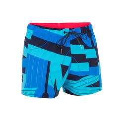 Korte zwemshort heren 100 All Rece blauw