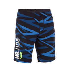 Men swimming shorts long - Printed blue