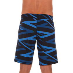 NBJI 100 LONG MEN'S SWIMMING SHORTS - CROSS BLACK