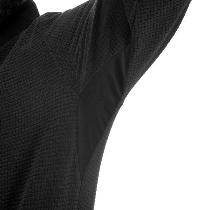 Fleecepullover Bergwandern MH500 Herren schwarz