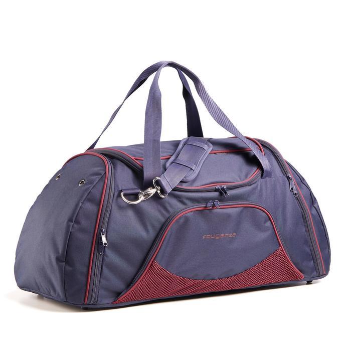 Bolsa de transporte material equitación DUFFLE 55 L azul marino y burdeos