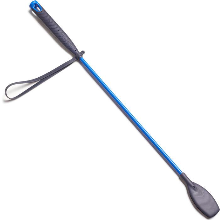 Rijzweep 140 ruitersport effen felblauw en marineblauw - 58 cm