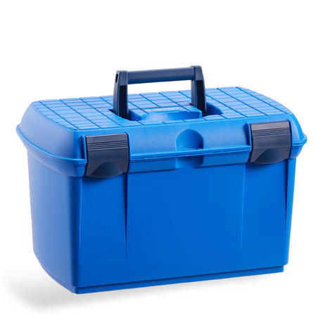 500 Horse Riding Grooming Box - Electric Blue/Navy