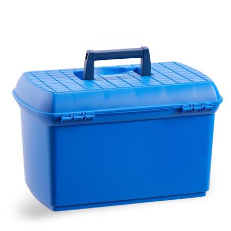 Mallette de pansage équitation 500 bleu électrique et marine