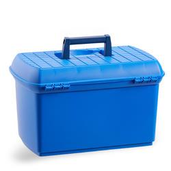 Caixa de Limpeza Equitação 500 Mulher Azul Elétrico e Azul-marinho