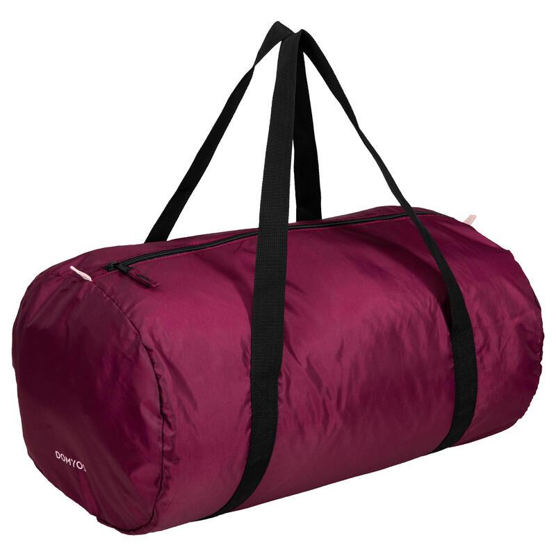 Fold-Down Fitness Cardio Training Bag 30L - Burgundy