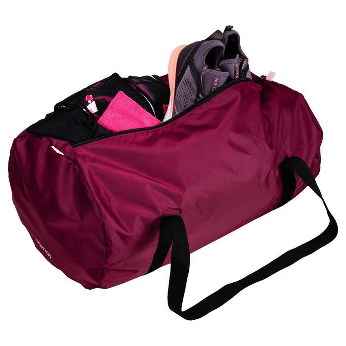 Bolsa de deportes gimnasio Cardio Fitness Domyos 30 litros Pocket plegable grana