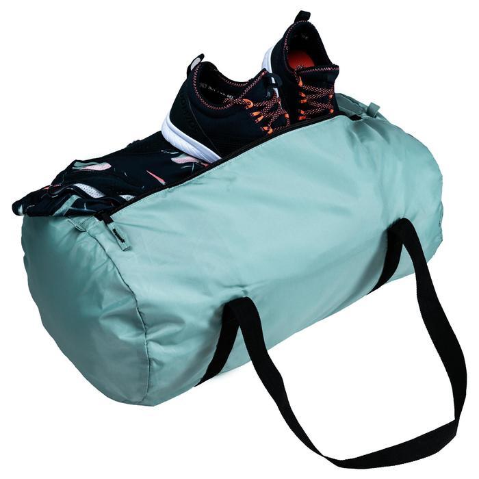 Sporttasche Fitness Ausdauer faltbar 30l grau/grün