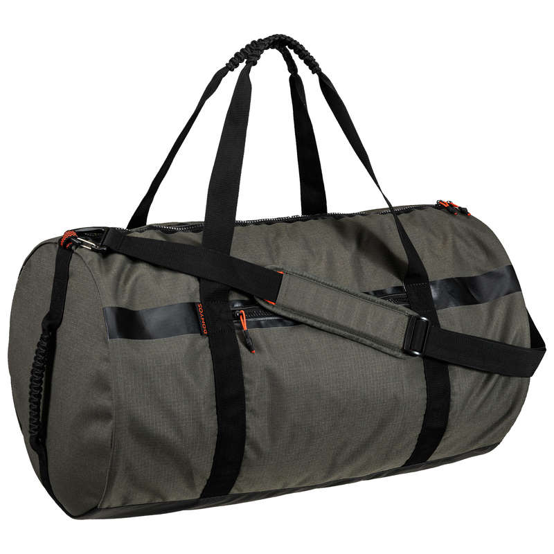 FITNESS CARDIO BAGS, ACCESS ALL LEVEL Fitness and Gym - Fitness Bag 55L - Khaki DOMYOS - Fitness and Gym