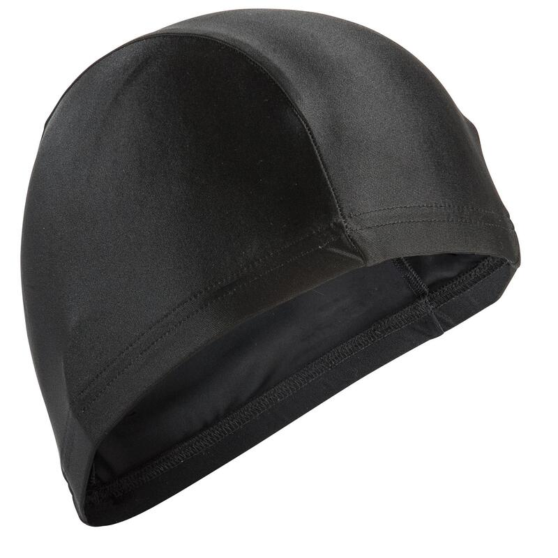 Bonnet de bain en tissu maille noir taille S et L