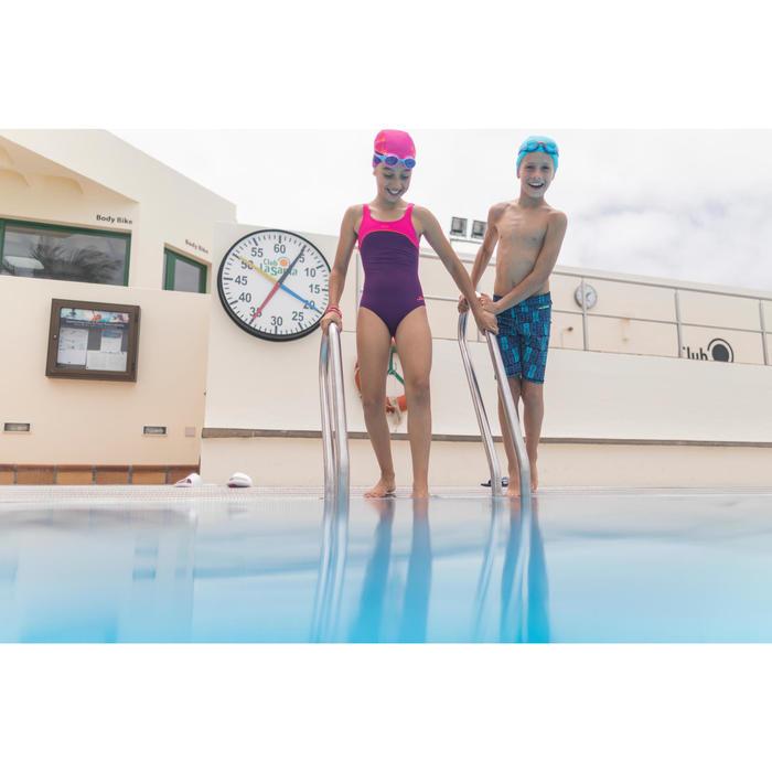 Badeanzug Taïs Mädchen violett/rosa