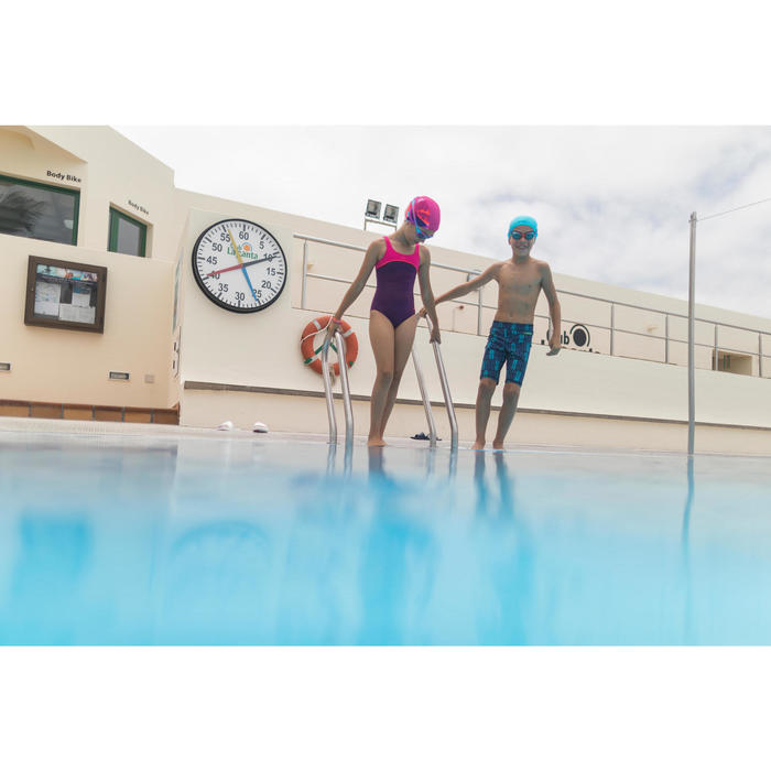 Jongenszwemshort 100 Long All Tiki zwart