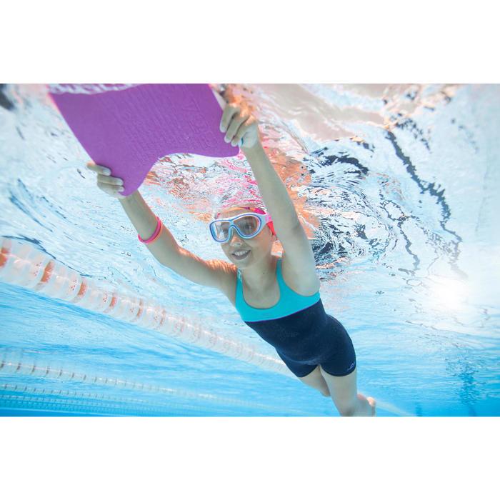Maillot de bain de natation fille une pièce Taïs shorty bleu