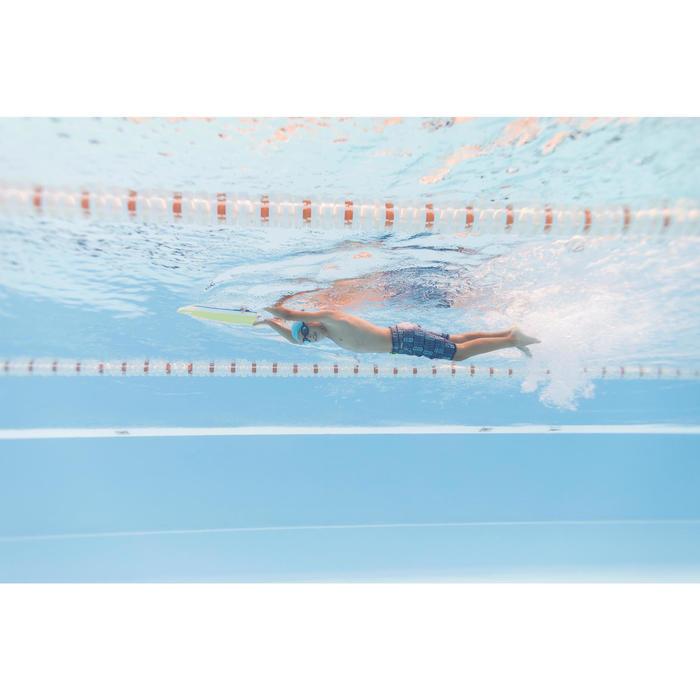 Bañador Niño Piscina Natación Swimshort 100 Largo Azul Estampado