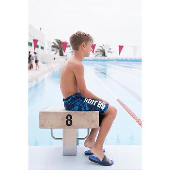男童款長版泳褲NBJI 100 - 藍色