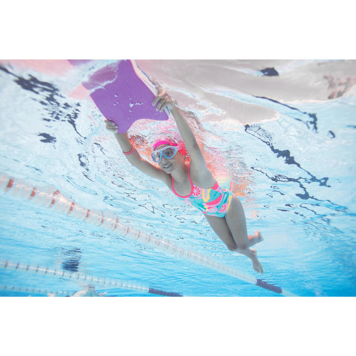 Zwembril Swimdow 100 maat S roze/wit