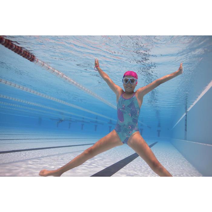 Maillot de natation fille une pièce Riana Eve bleu