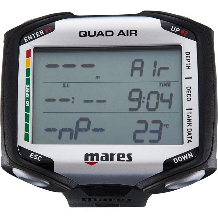 Duikcomputer Quad Air zwart grijs