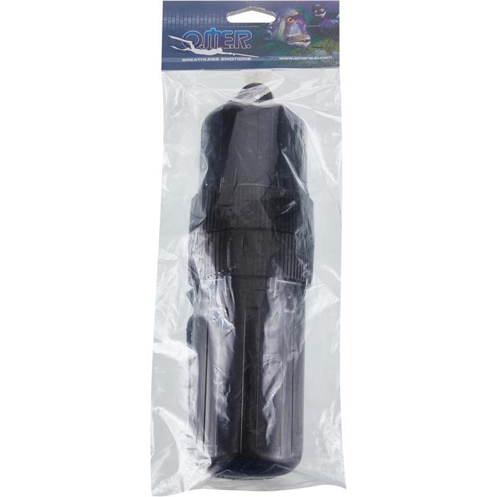 Ovale waterdichte doos voor onderwatervissers zwart