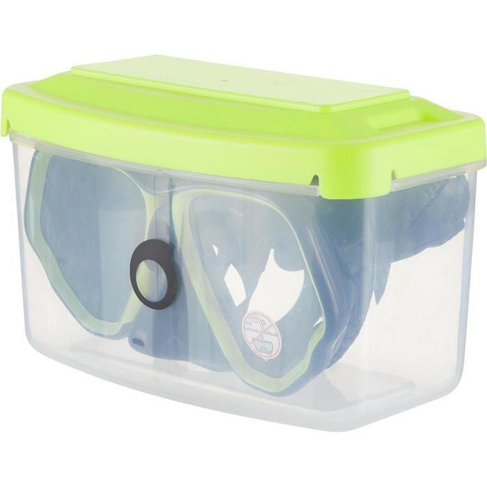 Tauchmaske SCD 500 für Gerätetauchen blau/neon Zweiglas/Bi-Glas Tauchermaske