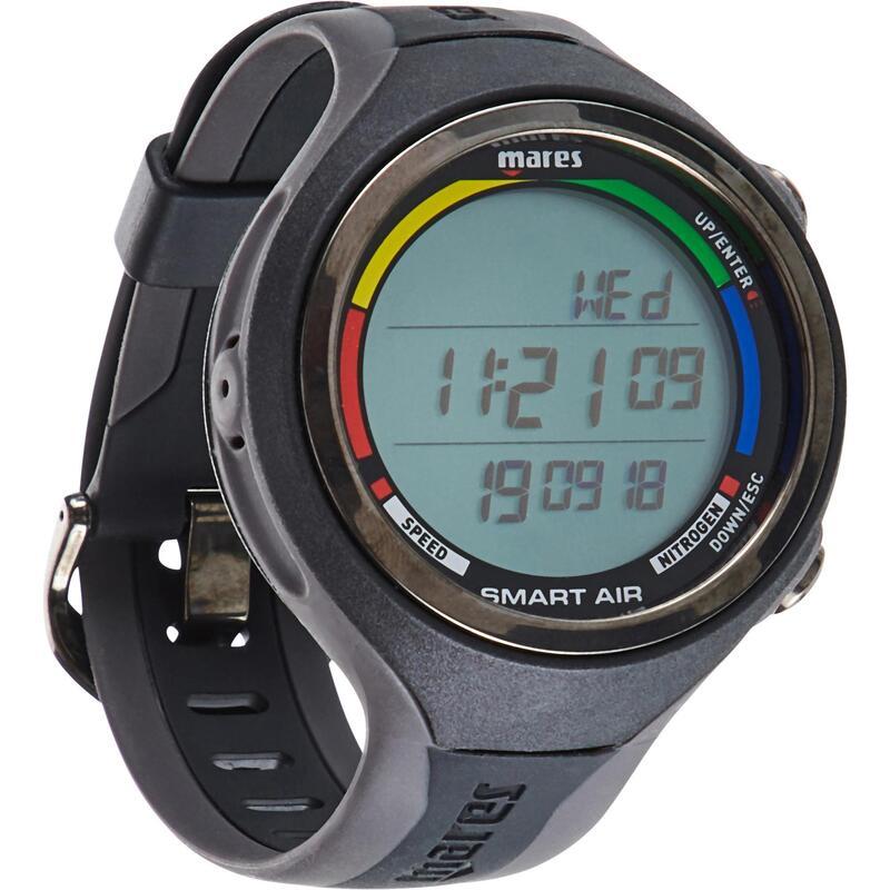Tüplü Dalış Saati - Siyah / Gri - Smart Air