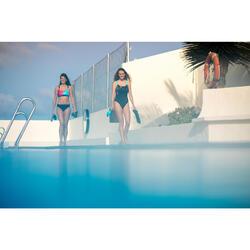 Maillot de bain de natation femme une pièce Taïs Geo noir