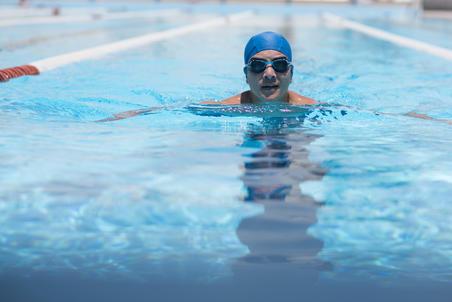 XBASE 100 Size L Swimming Goggles Print Mika Blue
