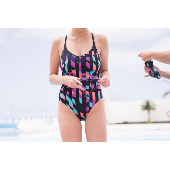 Bañador de natación una pieza mujer Riana Typ negro