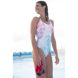 Damesbadpak voor zwemmen Riana Ond wit