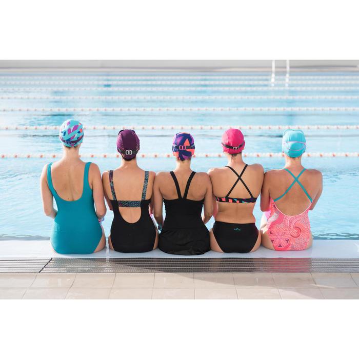 Sportbadpak voor zwemmen dames Taïs Ethn zwart
