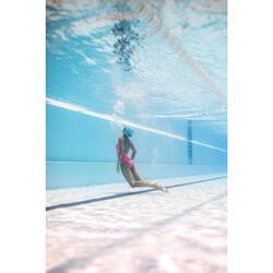 Bañador Natación Piscina Nabaiji Riana Mujer Forma Espalda X Entrenamiento Rosa