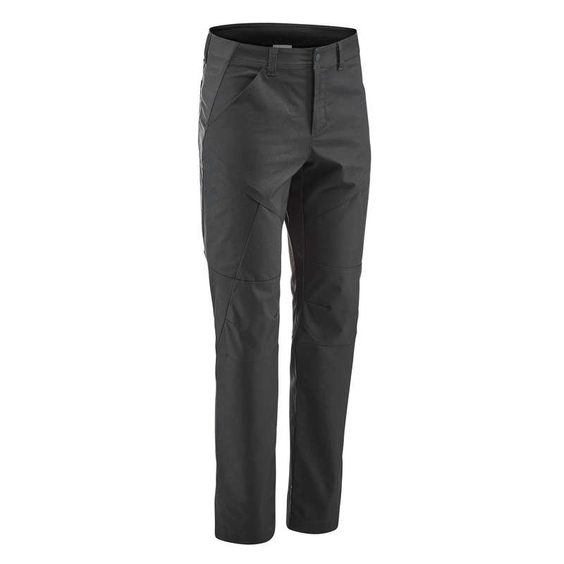 МУЖСКИЕ БРЮКИ / прогулки на природе Одежда - Брюки черные NH500 Regular QUECHUA - Брюки