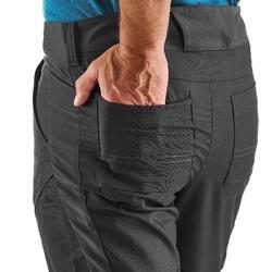 男款郊野健行合身剪裁長褲NH500