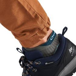 Broek voor wandelen in de natuur heren NH500 Slim kaki