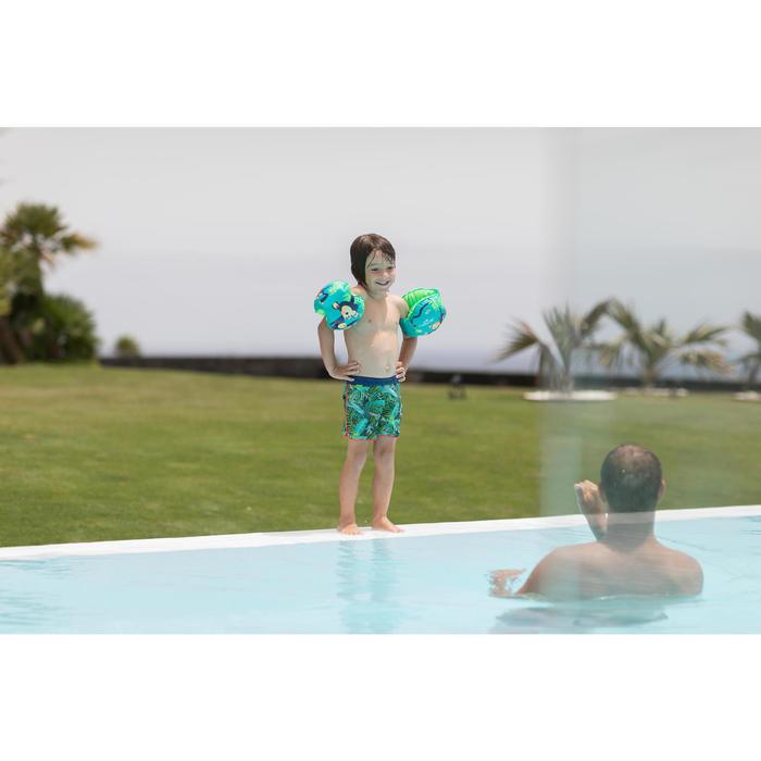 Bañador Bebe Piscina Natación Nabaiji Niño Azul Estampado Hojas