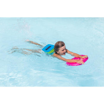 Blue green swim belt with removable float