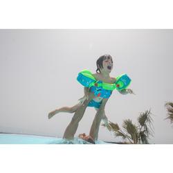 Armbandjes + zwemband zwemhulp voor kinderen TISWIM blauw met drakenprint