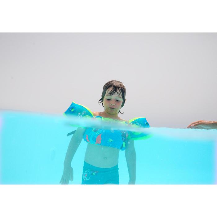 Modulaire zwemhulp TISWIM voor kinderen roze met DRAKENPRINT