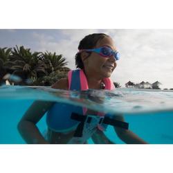 Schwimmweste Swimvest+ 25–35kg blau/rosa