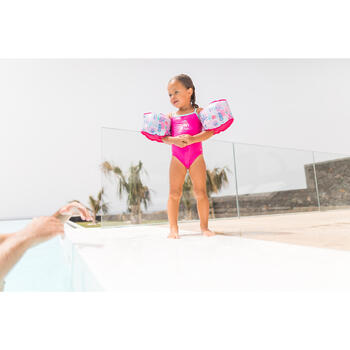 Pink Madina baby girls' one-piece Swimsuit with flamingo print