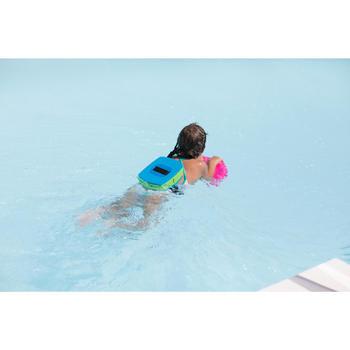 Zwemplank voor kinderen blauw met eenhoornprint